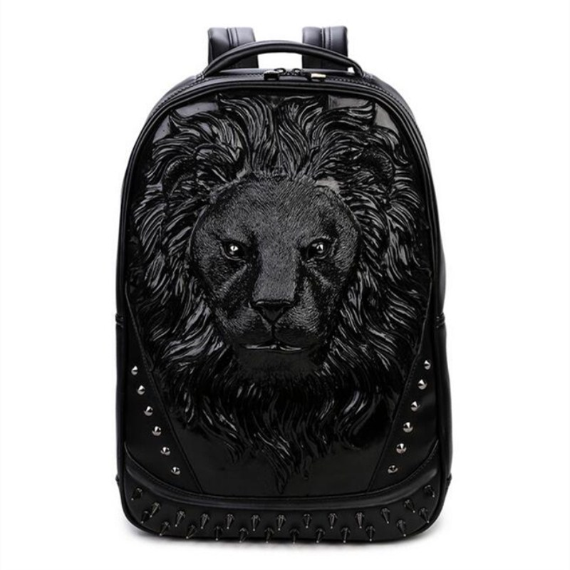 Fashion Style of Personality Owl Backpacks Punk Style Rivet Women Schoolbag Simple Brand Girls Travel Bag squirrel fashion rivet punk nylon with leather english style girls backpacks doodle classic vogue popular cute women travel bag