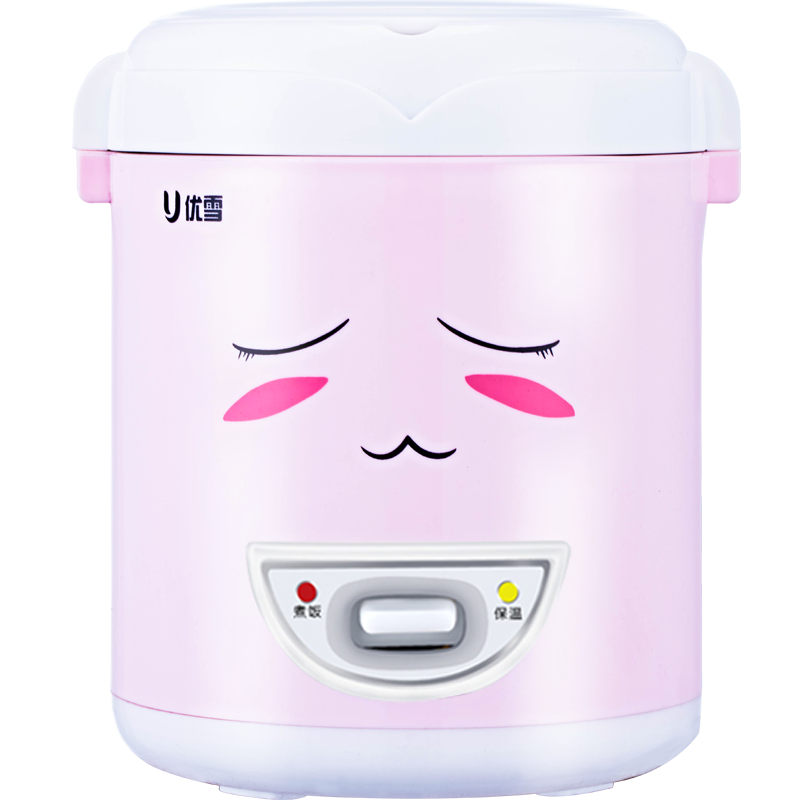 Small Rice Cooker 1-2 People Mini Student Cooking Single Type Pink Rice Cooker 1L Single Cook 200W homeleader 7 in 1 multi use pressure cooker stainless instant pressure led pot digital electric multicooker slow rice soup fogao