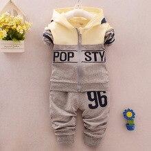 2016 Autumn Baby Girls Boys Clothes Sets Cute Infant Cotton Suits Coat Pants 2 Pcs set