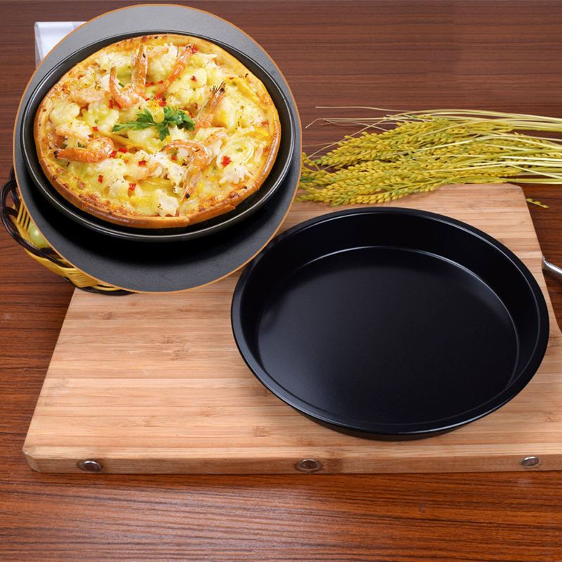 Useful Newest Round Deep Dish Pizza Pan Non-stick Pie Tray Baking Kitchen Tool 22cm/24cm Carbon Steel