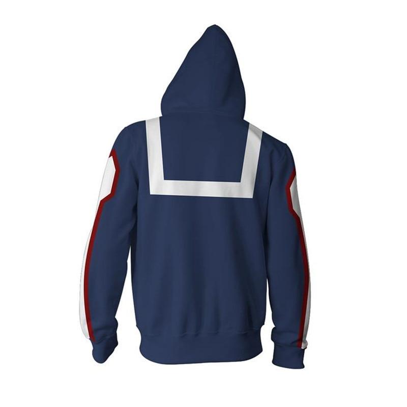 Activewear My Boku No Hero Academia Cosplay Kohei Horikoshi Hoodie Gym Sweatshirt Coat Top