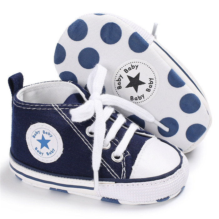 Newborn Canvas Infant Toddler Soft Sole Anti-slip All Star Baby Shoes Sports Sneakers Baby Boys Girls First Walkers Shoes toddler baby shoes infansoft sole shoes girl boys footwear t cotton fabric first walkers s01 page 9