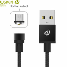WSKEN Metal Magnetic Cable Charger micro usb cable magnetic usb type c for huawei p20 lite Mate 10 cable micro usb magnetique