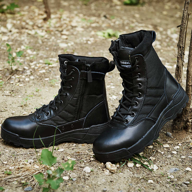 Esercito Militare Stivali Tattici Stivali di Lavoro di Sicurezza di Sport Esterno di Combattimento del Deserto Arrampicata Caccia Trekking scarpe Da Tennis Delle Donne Scarpe Da Trekking Uomini