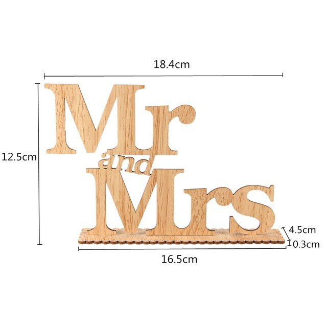 Wooden Mr And Mrs Table Sign Wedding Gifts Proposal Engagement Party Events  Restaurant Table Decoration Crafts  Party Proposal