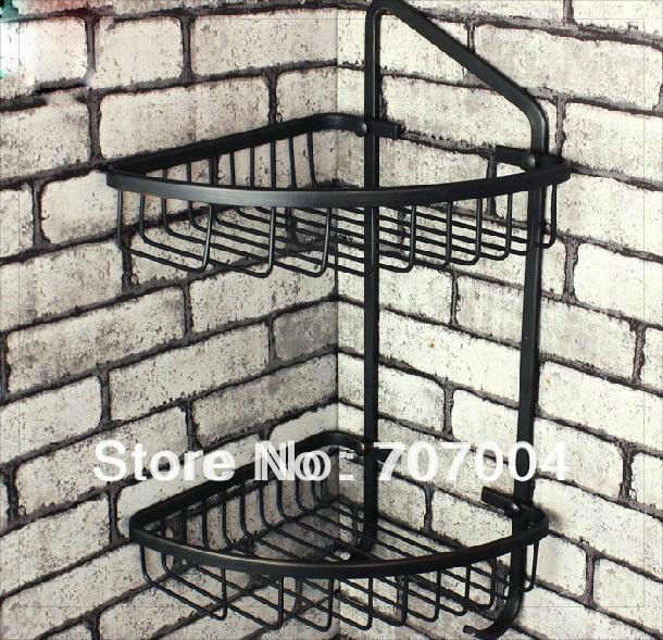 Oil Rubbed Bronze Corner Shower Caddy Basket Bathroom Cosmetic