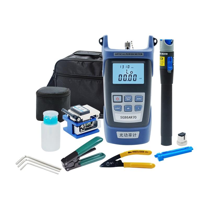 Optical Fiber Cold Connection Tool Kit Fiber Optic Tool Set/Optical Power Meter/Fiber Optic Light Pen/Fiber Cleaver