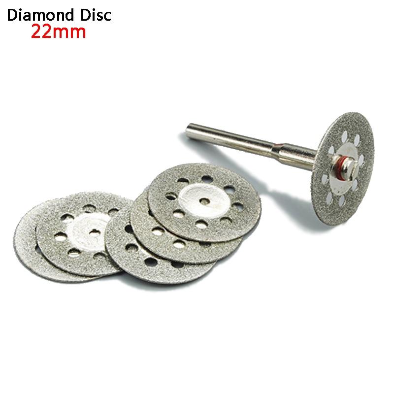 5pcs 22mm Diamond Grinding Wheel Dremel Accessories Mini Dremel Saw Cutting Disc Rotary Tool Abrasive Diamond Grinding Disc