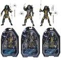 "Guarda Do Templo Antigo Guerreiro Predador NECA AVP Predator Masked Scar Predator PVC Toy Action Figure 7 ""18 cm KT2290"
