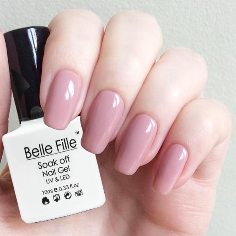 Belle Fille Nude Gel Nail Polish 10ml UV LED Soak Off Gel Polish Gel ...