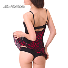 Women baby dolls sexy lingerie printing leopard patchwork chiffon  have S/M/L/XL