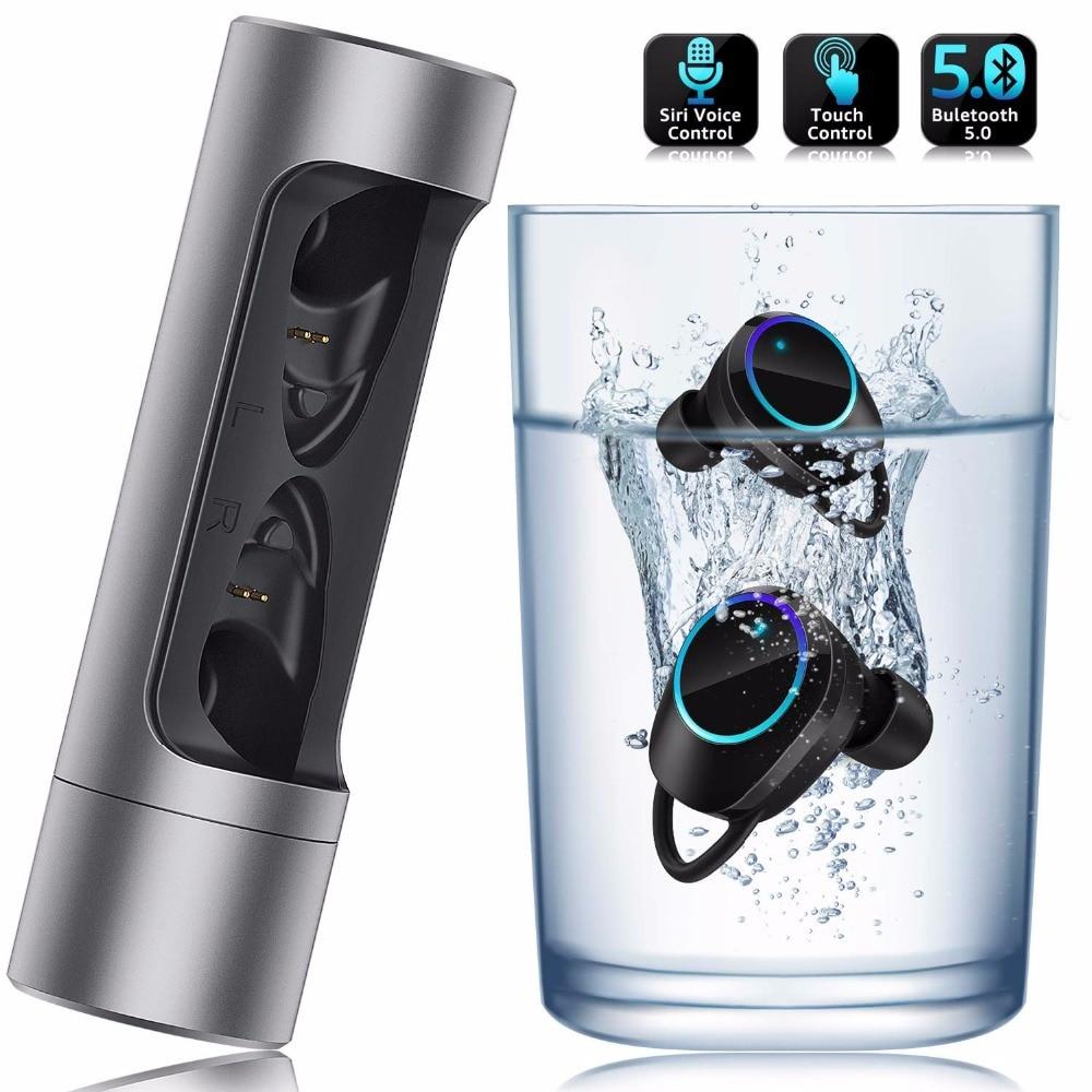 YTOM Mini Wireless Headphones 3D sound With Breathing light TWS Bluetooth 5 0 Earphone Headset with