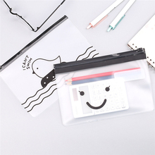 2PCS Creative Transparent Pencil Cases Etui Cute Kawai Chicken Pen Box File Holder For Boys Bts