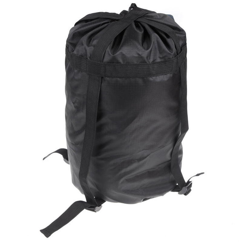 BLUE FIELD High Capacity Compression Stuff Sack Bag Outdoor Camping Sleeping Black S