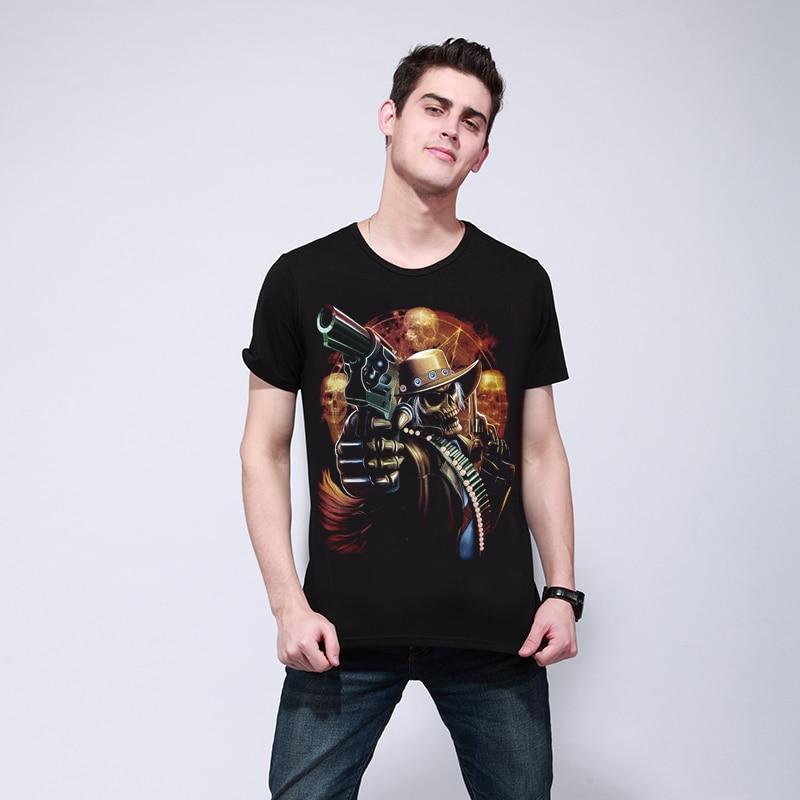 Muškarci T-shirt 2017 Novi modni pamuk Dobra kvaliteta Muška Casual - Muška odjeća - Foto 2