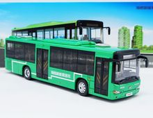 Alloy Model Gift 1:42 Scale KingLong Higer B92H KLQ6129G New Energy Transit Bus Vehicle DieCast Toy Model Collection Decoration new arrival gift lp700 matte 1 18 model car collection alloy diecast scale table top metal vehicle sports race decoration toy