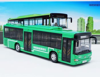 Alloy Model Gift 1:42 Scale KingLong Higer B92H KLQ6129G New Energy Transit Bus Vehicle DieCast Toy Model Collection Decoration