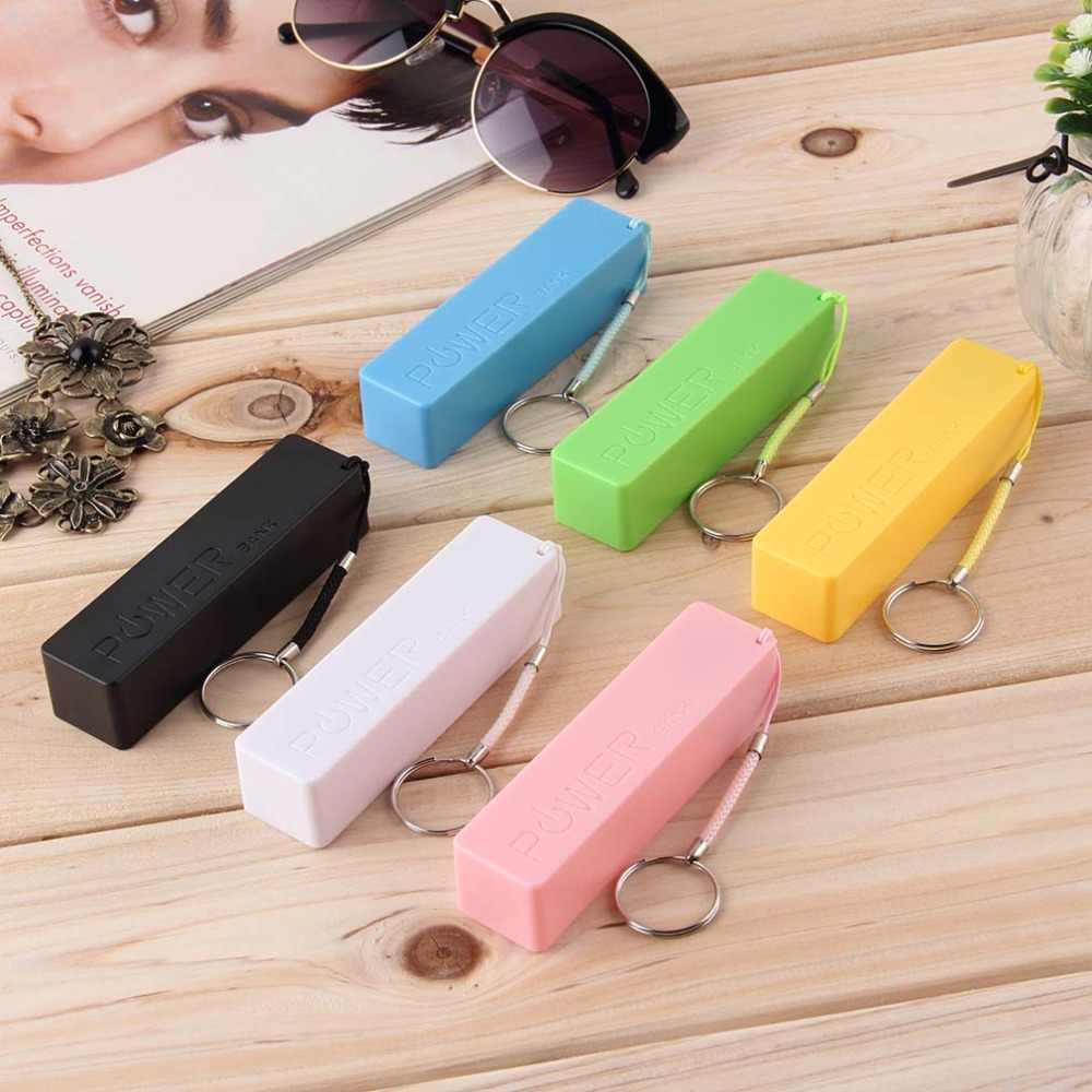 In stock! New Portable Mobile Power Bank USB 18650 Battery Charger Key Chain for iPhone MP3 (No Battery) Hot Worldwide