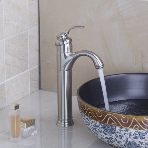 Brushed Nickel Bathroom Lavatory Laundry Vanity Basin Sink Faucets 97093 Single Handle Deck Mounted Torneira Faucets,Mixers Taps