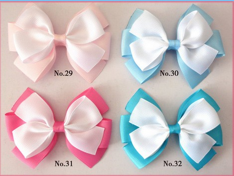 500 BLESSING Good Girl Boutique 4.5 Double Bowknot Hair Bow Clip Accessories halloween party zombie skull skeleton hand bone claw hairpin punk hair clip for women girl hair accessories headwear 1 pcs
