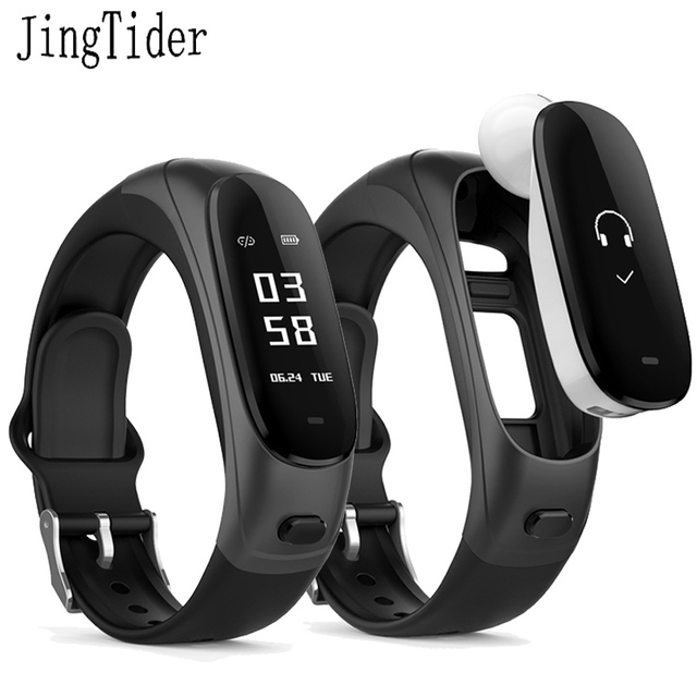Bluetooth Earphone Smart Bracelet Earband V08 Wristbands Smart Band Heart Rate Blood Pressure Monitor Activity Fitness Tracker