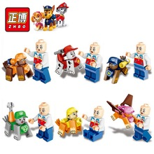 6Pcs/lot mini lovely Cartoon Figures Toys Patrol Puppy dog Doll Action figure model Buliding Blocks Bricks Anime children kids