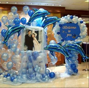 10 Pcs Dolphin Shape Helium Balloons Birthday Wedding