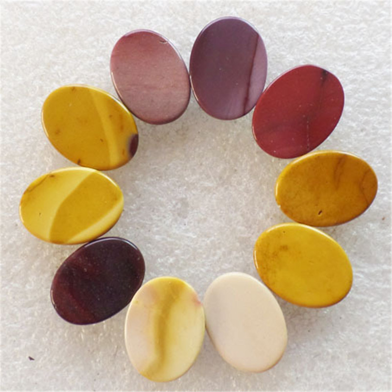 (10 pieces/lot) Wholesale Natural Mookaite Gem Oval CAB CABOCHON 20x15x6mm Free Shipping Fashion Jewelry C0001548