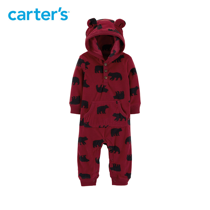e77eb4d272fe Carters baby jumpsuit Hooded fleece jumpsuits One pieces rompers ...