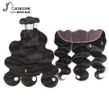 Joedir Pre-colored Remy Malaysian Body Wave Bundles With Frontal Closure 1 Pack Human Hair Weave Bundles 3 Bundles Free Shipping