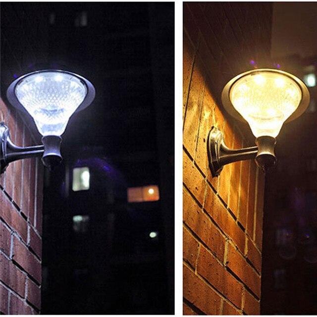 32 LED s solaire alimenté applique murale lampe étanche extérieur solaire capteur de LED ampoules veilleuse lampes pour jardin rue décorations