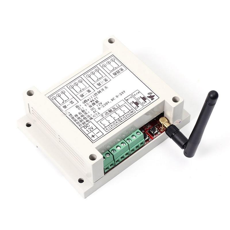 DC 9-38 В Wi-Fi реле многоканальный мобильного телефона Дистанционное управление сети реле Модуль с Телевизионные антенны Беспроводной умный до...