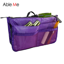 New Multifunction Cosmetic Bag Storage Case Holder Zipper Portable Travel Make Up Storage Bag Organizer Cosmetics Container