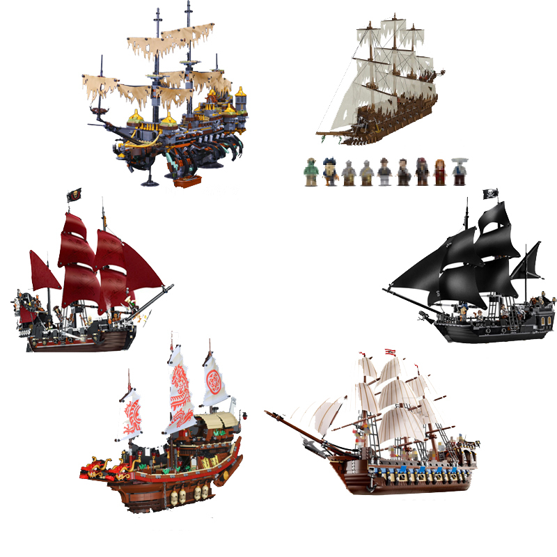 LEPIN 16042 22001 06057 Model  Movie Series 16006 16016 Pirates of The Caribbean 16009 Queen Anne's Revenge Building Blocks Set lepin compatible 16009 1151pcs pirates of the caribbean queen anne s reveage model building kit blocks brick toys for kids 4195
