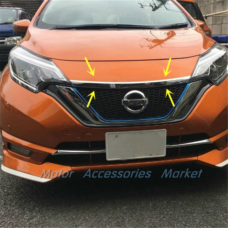 2016 Nissan Versa Exterior: New Chrome Front Grille Hood Molding Trim For Nissan Versa