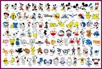 골든 피닉스 책 14 임시 에어 브러쉬 문신 스텐실 미키 마우스 도널드 오리 시리즈 바디 아트 페인트 메이크업 화장