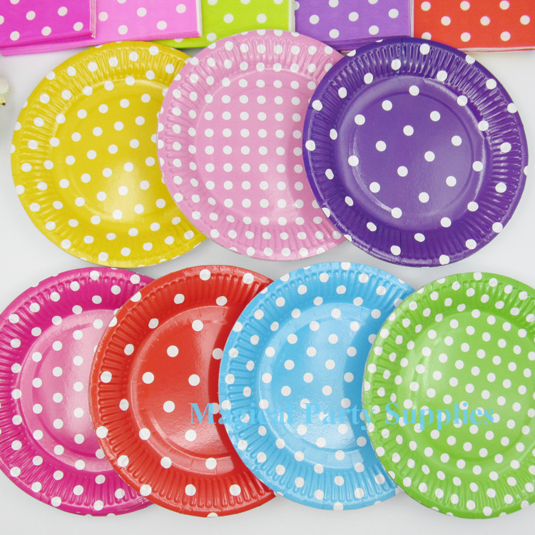 Free Shipping 100 Sets Disposable Party Tableware Paper Plates Cups Napkins Kids Birthday Baby Shower Party Supplies Decorative on Aliexpress.com | Alibaba ...  sc 1 st  AliExpress.com & Free Shipping 100 Sets Disposable Party Tableware Paper Plates Cups ...