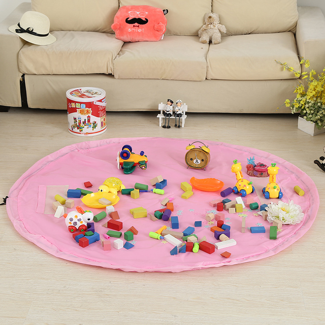 150cm Large Size Portable Kids Children Infant Baby Play Mat and Storage Bags for toys