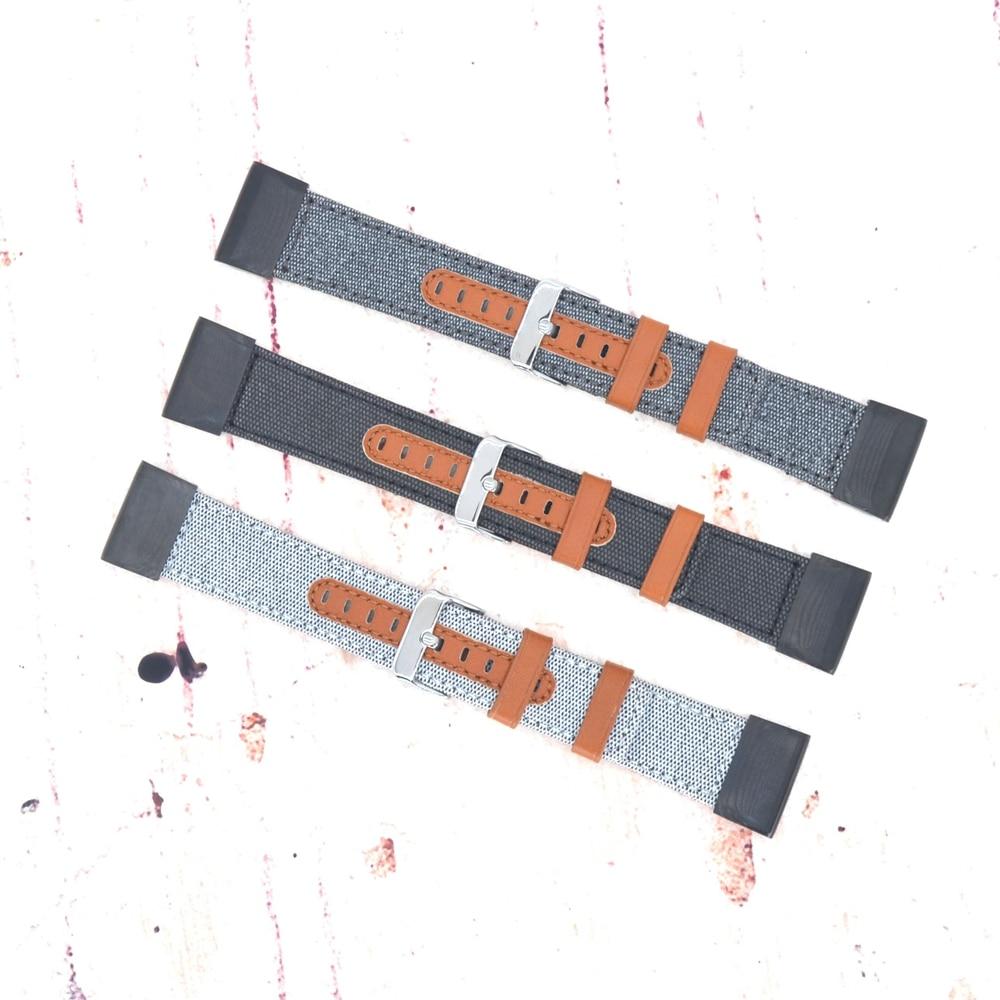Garmin Leather+Nylon Quick Fit Leather Bracelet for Fenix 3 Replacement Wristband Strap for Garmin Fenix 5X/Fenix 3/Fenix 3 HR