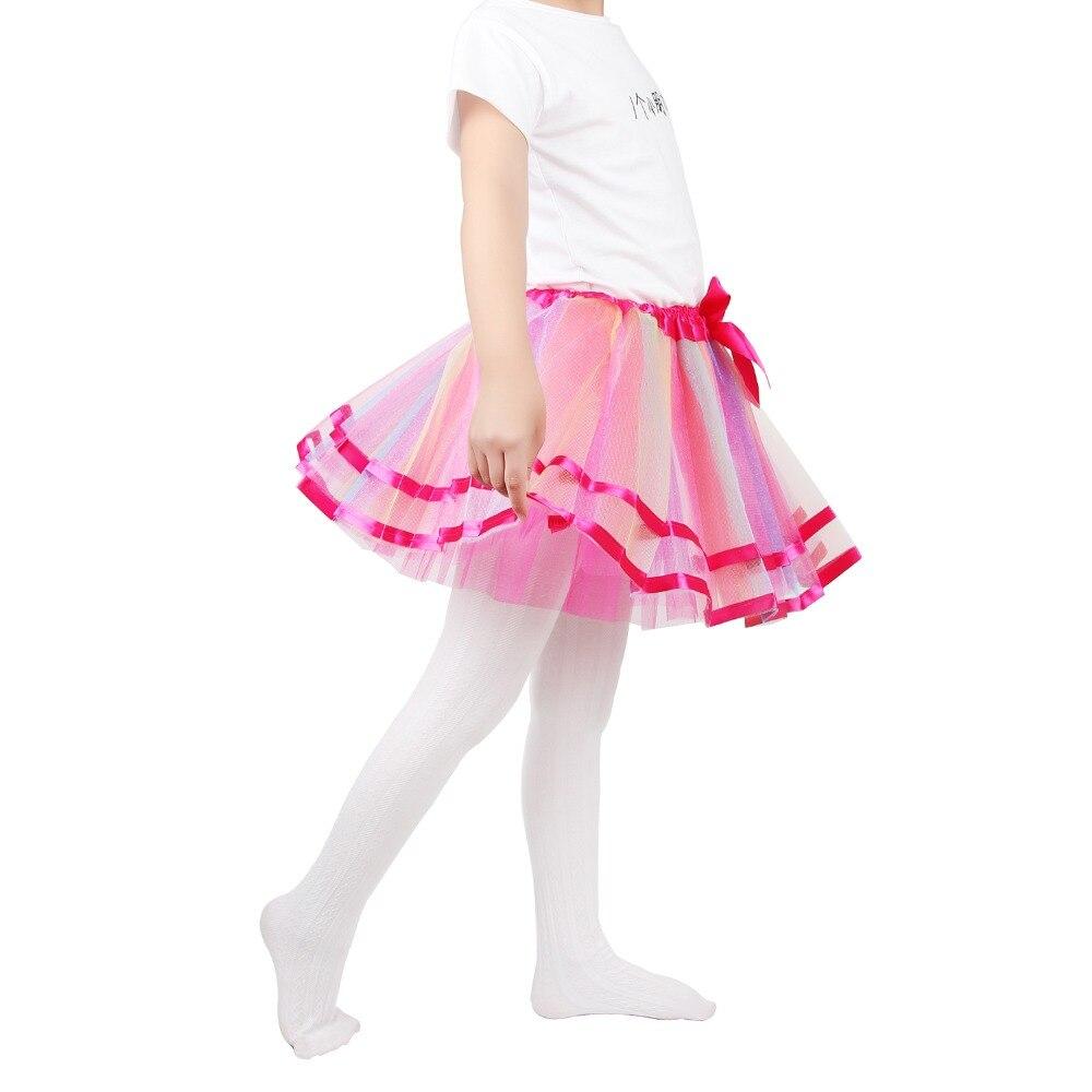 805abb3d2 Dulce niñas tutú faldas bebé niñas esponjosas falda princesa niña vestido  de baile falda ropa de fiesta