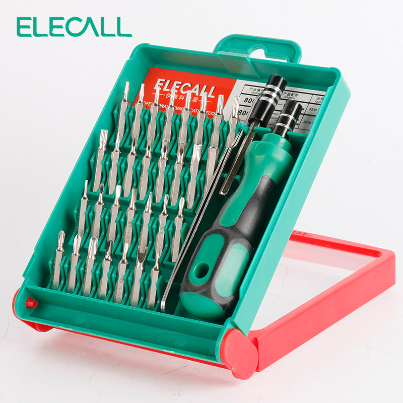 33 In 1  Screwdriver Set Interchangeable Torx Tweezer Extension Repair Tool Kit Box For Notebook Laptop Pc Cameral Watch Phone precision torx screwdriver set 53 in1 tweezer flexible drill shaft disassembly screwdriver repair open tool kit for cell phone