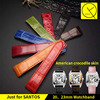 Customized Watchband Colorful Genuine Leather Crocodile For Cartier Santos Luxury WatchBand Bracelet 20mm 23mm Man Woman