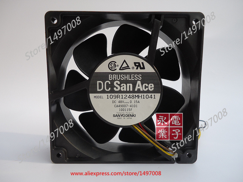 Free Shipping For Sanyo 109R1248MH1041  DC 48V 0.15A 4-wire 80mm, 120X120x38mm Server Square fan mitsubishi 100% mds r v1 80 mds r v1 80
