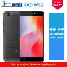 KXD W55 3G Cell phone 5.5″MT6580A 1GB+8GB Quad Core Andriod6.0 Dual Sim 2500mAh Battery 720*1280pixlels Smartphone Mobile Phone