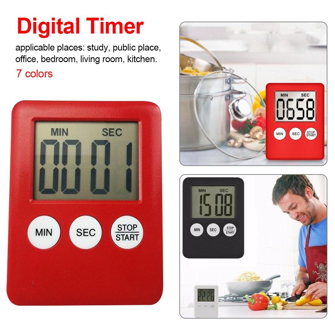 Home Küche Timer Elektronische Küche Kochen Timer Stoppuhr Kochen Werkzeuge Einfache Praktische Verwenden Digitale Platz Lcd Display Zu Den Ersten äHnlichen Produkten ZäHlen Werkzeuge