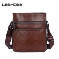 Waterproof 100 Genuine Leather Men Bag Casual Vintage Handbag Male Bag Luxury Brand Designer Shoulder Bag
