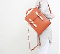 Vintage Women Genuine Leather Panelled Backpacks Students Preppy Style School Laptop Bags Ladies High Capacity Totes D687