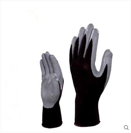 The car down the oil proof labor nitrile coating knitted gloves anti cutting breathable wear non slip oil free comfortable cheap nitrile gloves white nylon knitted hands protection gloves white mechanic construction industry