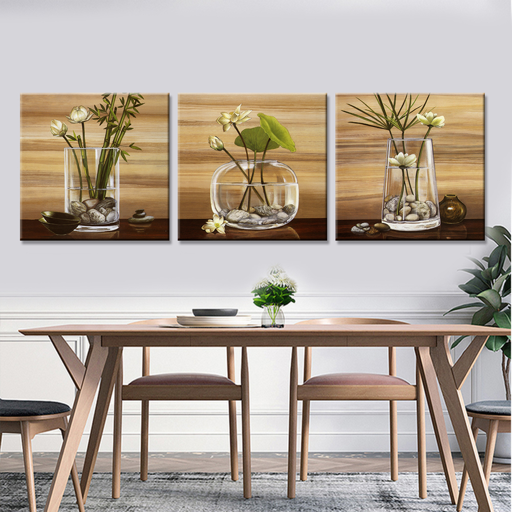 Drop Shipping Canvas Painting Flower On Vase Print On