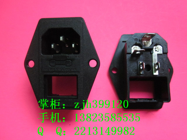 Free shipping 2pcs Power socket safety box three-in ac power socket with plug